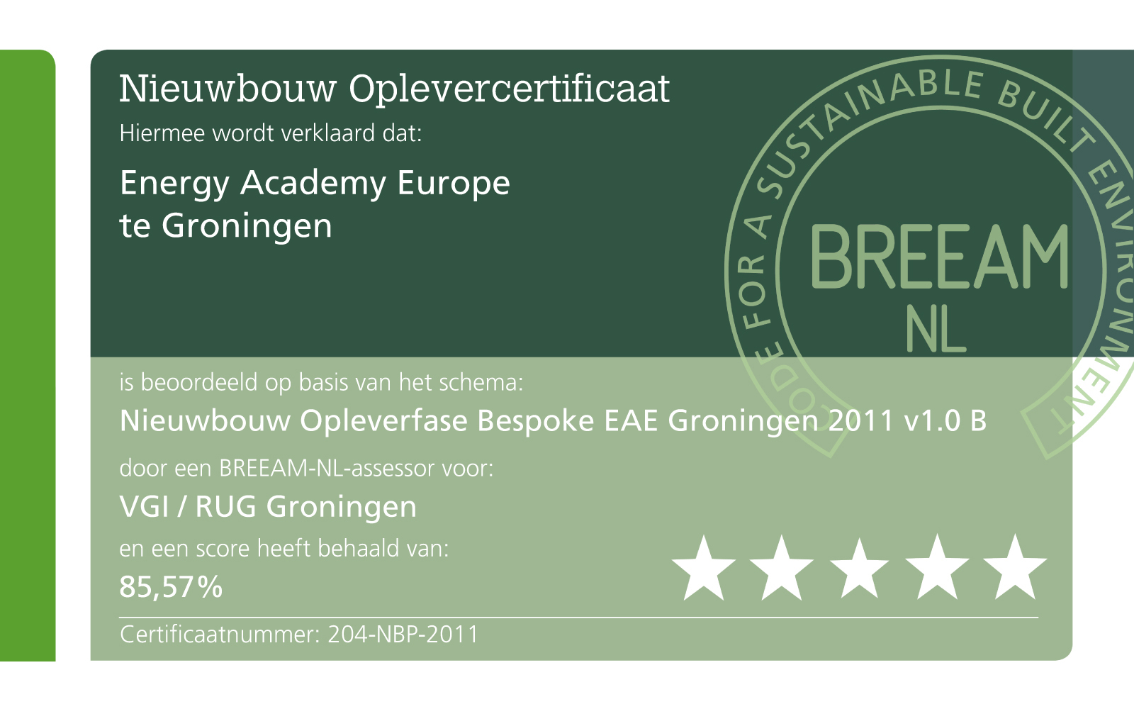 BREEAM energy academy